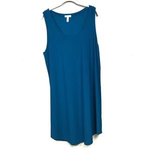 New with tags Leith Nordstrom tank dress teal xxl